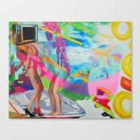 The Boob Tube Canvas Print