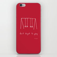 Don't forget to play - red iPhone & iPod Skin
