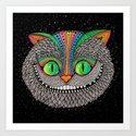 Alice in wonderland art fan by Luna Portnoi Art Print