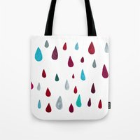 raindrops-red Tote Bag