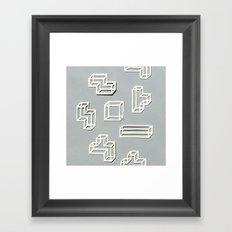 Tetris Papercut Framed Art Print
