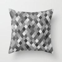 Black And White Harlequi… Throw Pillow