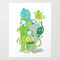 Done with Monster School! Art Print