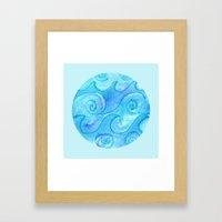 Salty Waves Framed Art Print
