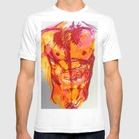 Male Torso Summer Mens Fitted Tee White SMALL