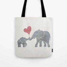 Elephant Hugs Tote Bag