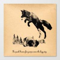 The Quick Brown Fox Jump… Canvas Print