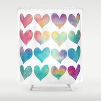A Colorful Kind Of Love  Shower Curtain