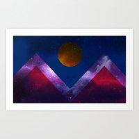 Denver Flag/Galaxy Art Print