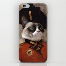 Angry cat. Grumpy General Cat.  iPhone & iPod Skin