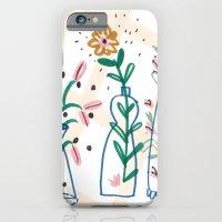 Flowers. Vase, illustration, art, print, pattern, nature, floral, still life, iPhone 6 Slim Case