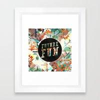 Future Fun Framed Art Print