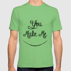 You Make Me Smile - Chalkboard Mens Fitted Tee Grass SMALL