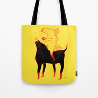 Yellow Rider Tote Bag