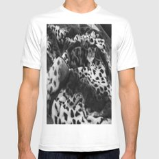 FIND THE CAT Mens Fitted Tee SMALL White