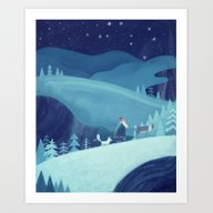 Midnight Stroll Art Print