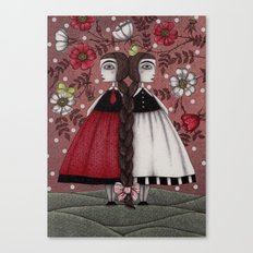 Snow-White and Rose-Red (1) Canvas Print