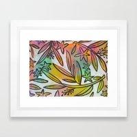 Painted Jungle Framed Art Print