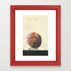 My Brain Goes For a Walk Without Me Framed Art Print