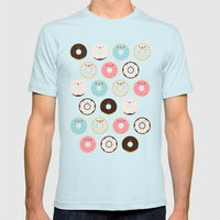 Super Sweet Donuts Mens Fitted Tee Light Blue SMALL
