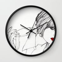 Girl With The Mont Blanc Wall Clock