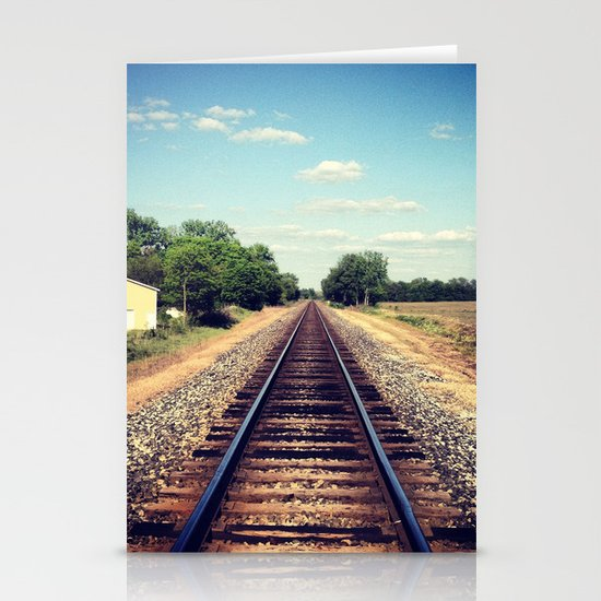 Railroad Tracks Stationery Card
