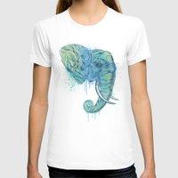 portrait T-shirts featuring Elephant Portrait by Rachel Caldwell