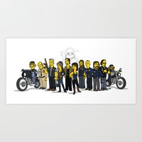 Sons Of Anarchy Cast Art Print