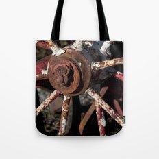 Rusted Wheel Tote Bag
