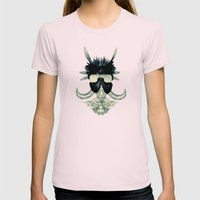 A black angel from Aksoum Womens Fitted Tee Light Pink SMALL