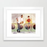 laundry and love Framed Art Print