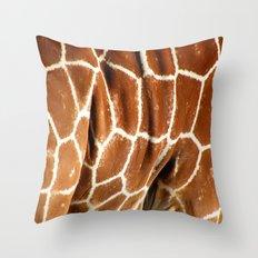 Giraffe Skin Close-up Throw Pillow