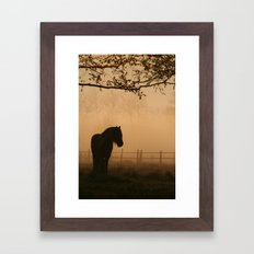 a pony Framed Art Print