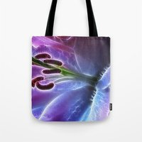 Blue Lily Tote Bag