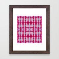 Fuchsia Tie Dye Stripe 1 Framed Art Print
