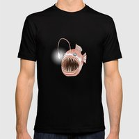 Anglerfish Mens Fitted Tee Black SMALL