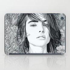 White Moon Garden iPad Case