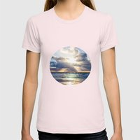 Next To Heaven  Womens Fitted Tee Light Pink SMALL