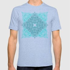 Teal Tangle Square Mens Fitted Tee Tri-Blue SMALL