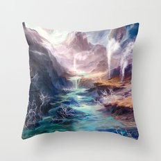 Polluted Delta Throw Pillow