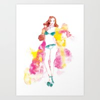 Rainbow Fashion Art Print