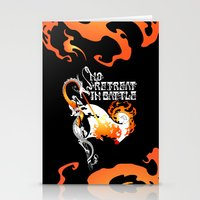 No Retreat in Battle Stationery Cards
