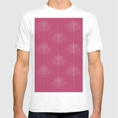 Modern leafs White SMALL Mens Fitted Tee