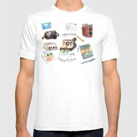 Document Your Adventures Mens Fitted Tee White SMALL
