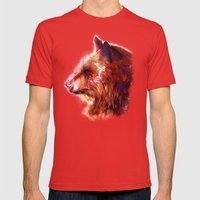 Grizzly  Mens Fitted Tee Red SMALL