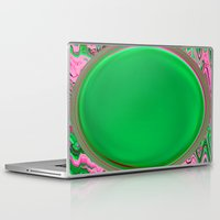 Laptop & iPad Skin featuring The Green Button by Serenity Photography