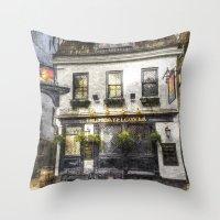 The Mayflower Pub London Art Throw Pillow