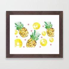 Pineapple party Framed Art Print