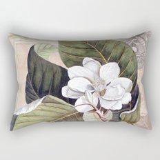 Vintage White Magnolia  Rectangular Pillow