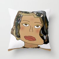 Digital Paper Doll 02 Throw Pillow